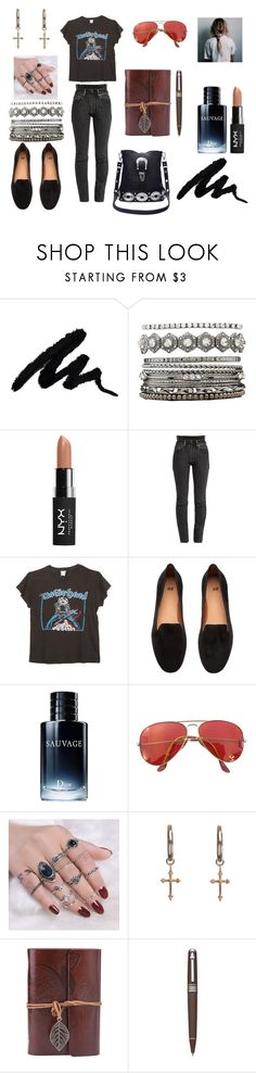 """""""win some, lose some"""" by winter-n-rose ❤ liked on Polyvore featuring Charlotte Russe, NYX, Vetements, MadeWorn, H&M, Christian Dior, Ray-Ban, Rachel Entwistle, Wedgwood and allblackoutfit"""