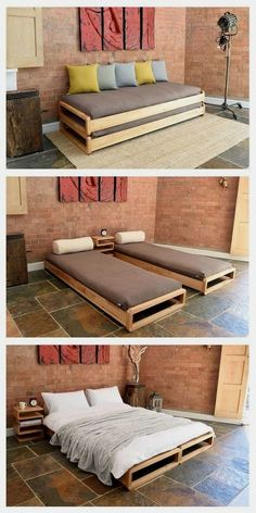 Southern Home Interior Cama gemela para la finca Pallet Furniture, Home Furniture, Furniture Design, Smart Furniture, Furniture Ideas, Bedroom Furniture, Multipurpose Furniture, Modular Furniture, Space Saving Furniture