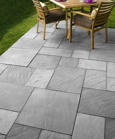 DevonStone Saw Cut- EP Henry Covered Patio Designs - What Options Do You Have? Patio Slabs, Bluestone Patio, Outdoor Flooring, Belgard Pavers, Outdoor Pavers, Slate Patio, Concrete Patio Designs, Backyard Patio Designs, Stamped Concrete Patterns