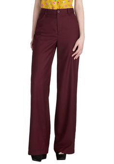 So Long, Sonoma Pants by BB Dakota - Red, Solid, Work, Woven, Better, Pockets, Basic, Menswear Inspired, Holiday Party