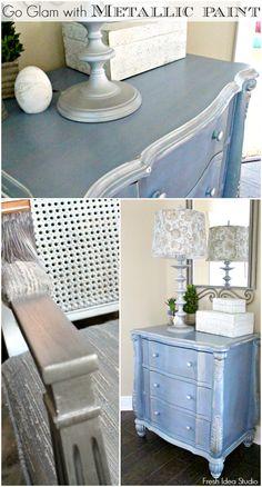 tips for a shiny glamorous metallic patina collage
