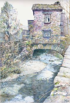 The Bridge House, Ambleside, Cumbria by Malcom Cudmore