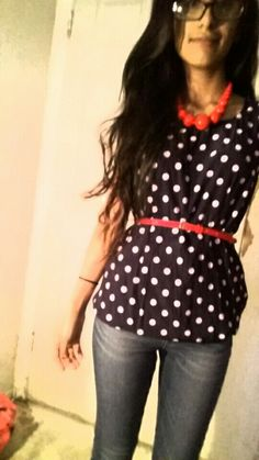 Outfit of the day, polka dots