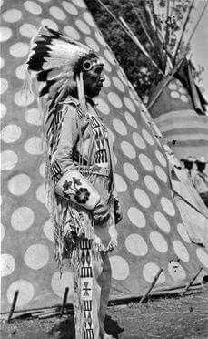 One Gun near Calgary, Alberta - Blackfoot (Siksika) - circa 1940