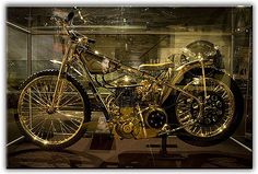 Gold plated speedway bike of 9 times world champ,Ivan Mauger