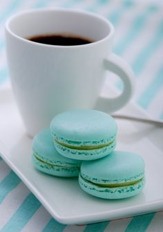 Tiffany Blue Macaron