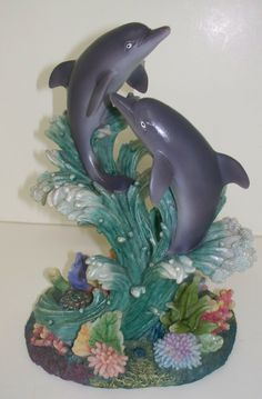 "Frontdoorfinds.com Dolphin Figurine  5.5"" x 7.5"" (For Decorative Purposes Only, Not a Toy) $19.95"