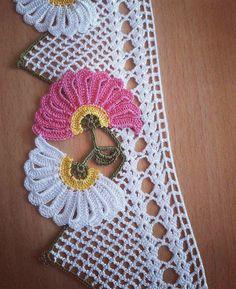 Filet Crochet, Crochet Doilies, Crochet Flowers, Crochet Lace, Baby Knitting Patterns, Crochet Patterns, Knit Cardigan Pattern, Crochet Flower Tutorial, Creative Embroidery