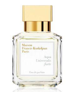 Maison Francis Kurkdjian Aqua Universalis Forte perfume - citrus and clean white floral blossoms.