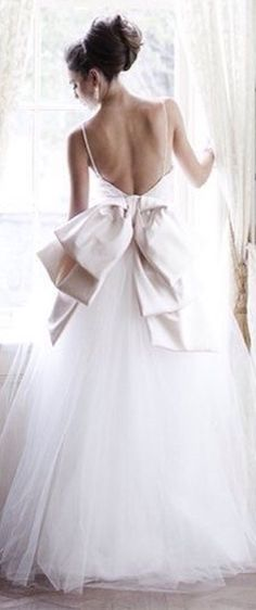 Spring Wedding via All White Wedding, Spring Wedding, Garden Wedding, Stunning Wedding Dresses, Bridal Beauty, Bridal Boutique, Beautiful Bride, Bridal Style, Flower Girl Dresses
