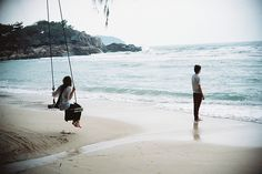swing on the beach.  yes.