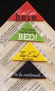 Book Corners: Have a habit of falling asleep while reading? These bookmarks might be for you.