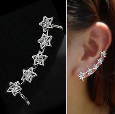 Silver Stars Wrapping Ear Cuff (Single, No Piercing) | LilyFair Jewelry, $10.99!