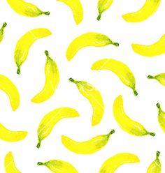 Watercolor seamless banana pattern vector - by Vodoleyka on VectorStock®