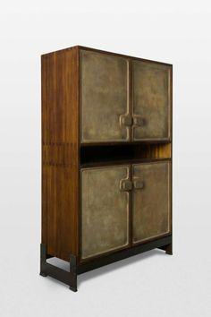 Rare Jules Wabbes   bronze and Wengé cabinet | From a unique collection of antique and modern cabinets at http://www.1stdibs.com/furniture/storage-case-pieces/cabinets/