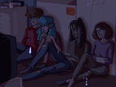 Sally Face Characters x reader : Oneshots / Scenarios - Oneshot: Larry x Reader Chucky, Sally Face Game, Little Misfortune, Manga Anime, Larry Johnson, Silly Faces, Epic Art, Fanart, Dark Art