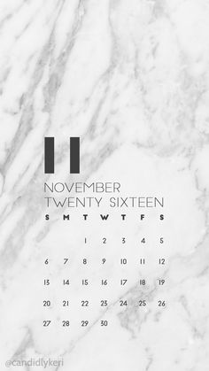 Marble modern organized clean modern November calendar 2016 wallpaper you can download for free on the blog! For any device; mobile, desktop, iphone, android!