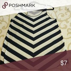 Maurices tank Navy chevron, EUC Maurices Tops Tank Tops