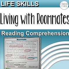 Life Skills High School: Roommates Teach your life skills high school students functional academics through reading comprehension for special education. Life Skills Classroom, Teaching Life Skills, Teaching Special Education, Teaching Language Arts, Teaching Resources, Reading Strategies, Reading Comprehension, Word Work Stations, Student Information