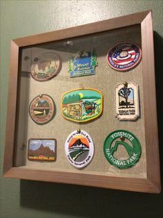Displaying our national park patches in a shadow box