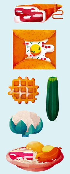 I was invited to illustrate items for the new campaign of Badoit.they celebrate the French gastronomy !