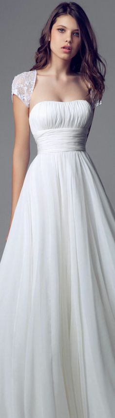 This looks so much like my dress! Bodice Wedding Dress, Gorgeous Wedding Dress, Beautiful Gowns, Beautiful Outfits, One Shoulder Wedding Dress, Elegant Wedding, Wedding Dresses 2014, Bridal Dresses, Wedding Gowns