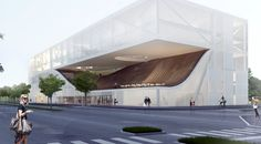 The Museum of Ethnography in Budapest is conceived as a confluence of the park and the city- the nature and the architecture- Bookending the promenade alon