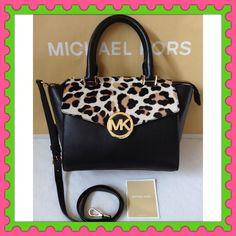 025bfd918524 Authentic Michael Kors Calf Hair Leather Bag % AUTHENTIC ✨ Stunning Michael  Kors Haircalf Leather Handbag Lightweight & very spacious Length 13