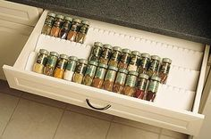 DIY Drawer Spice Rack