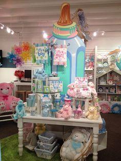 Baby Products Display from our Dallas Showroom @Dallas Market  Summer 2013! #burtonandburton #baby