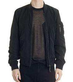 Local Firm men's black LEON bomber jacket