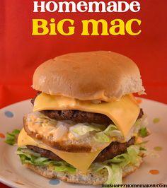 Homemade Big Mac - recipe for special sauce.omg, i could make a big mac that tastes good. Copycat Recipes, Beef Recipes, Cooking Recipes, Hamburger Recipes, Beef Meals, Cooking Time, Soup Recipes, Dinner Recipes, Homemade Big Mac Sauce