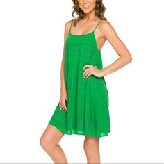 Mittoshop Kelly Green Tiered Dress