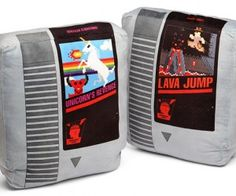 Retro Video Game Cartridge Pillows Perfect for Making a NESt in Your Famicom Room