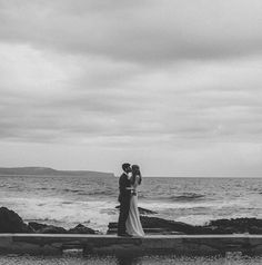 Amy + Marty's modern Sydney beach wedding is just too perfect!! Photo: @simonlking  Gown: 'Nadia' slip + 'Arielle' Lace overlay @kwhbridal #kwhnadia #kwharielle Reposted Via @kwhbridal