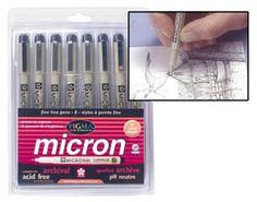 Sakura® Pigma Micron Pen Sets -