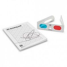 3D Drawing Pad with classic red/blue glasses | X-treme Geek
