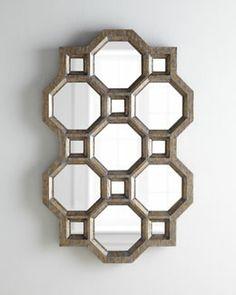 H70ZS Carrara Honeycomb Mirror