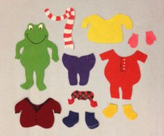 Felt Board Story Set Froggy Gets Dressed by AppleBearFeltStory, $19.67