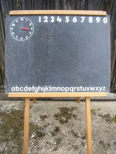 Vintage Childs Chalk Board Blackboard