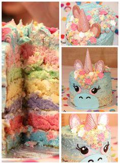 Rainbow unicorn cake - regenboog eenhoorn taart