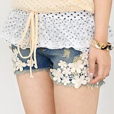 Buy '59 Seconds – Crochet-Lace Denim Shorts' at YesStyle.com plus more Hong Kong items and get Free International Shipping on qualifying orders.
