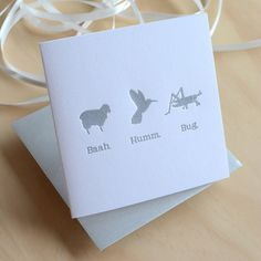 This card is SO me!!  Letterpress Christmas card Bah Humbug. Baah by fluidinkletterpress