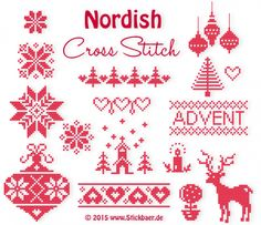 Nordish Cross Stitch all files + Christmas Cross Stitch Alphabet, Xmas Cross Stitch, Cross Stitch Christmas Ornaments, Christmas Embroidery, Diy Embroidery, Cross Stitching, Cross Stitch Embroidery, Cross Stitch Patterns, Machine Embroidery