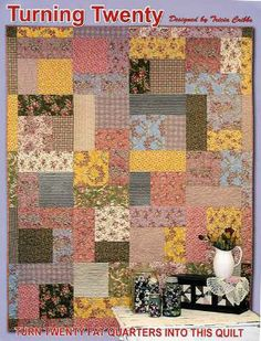 Turn 20 fat quarters into a beautiful quilt in 3 hours! Turning Twenty® is the perfect pattern if you are a beginning quilter, a dream if you are an experienced quilt maker, and wonderful for classes.