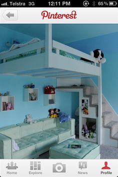 high sleeper bed with sofa underneath