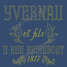 Yvernau and Sons stencil Stencils, French Typography, Christmas Typography, Rustic French, Les Sentiments, Sons, Vintage, Images, Farmhouse