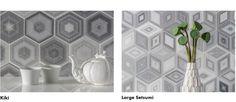 Marble tile: Kiki in Zebra from the AKDO origami collection