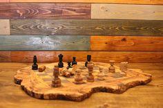 Jeux d'échecs Fait main 53 cm,hand carved olive wood chess board set : Jeux, jouets par scood