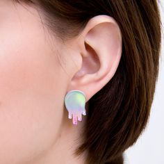 Get glam with these iridescent goop earrings by Galactic Castle!  Shop at Hey Chickadee